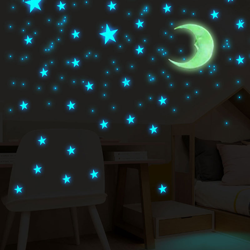 Details About 102 Stars Glow In The Dark Wall Sticker Kids Bedroom Room Ceiling Decor