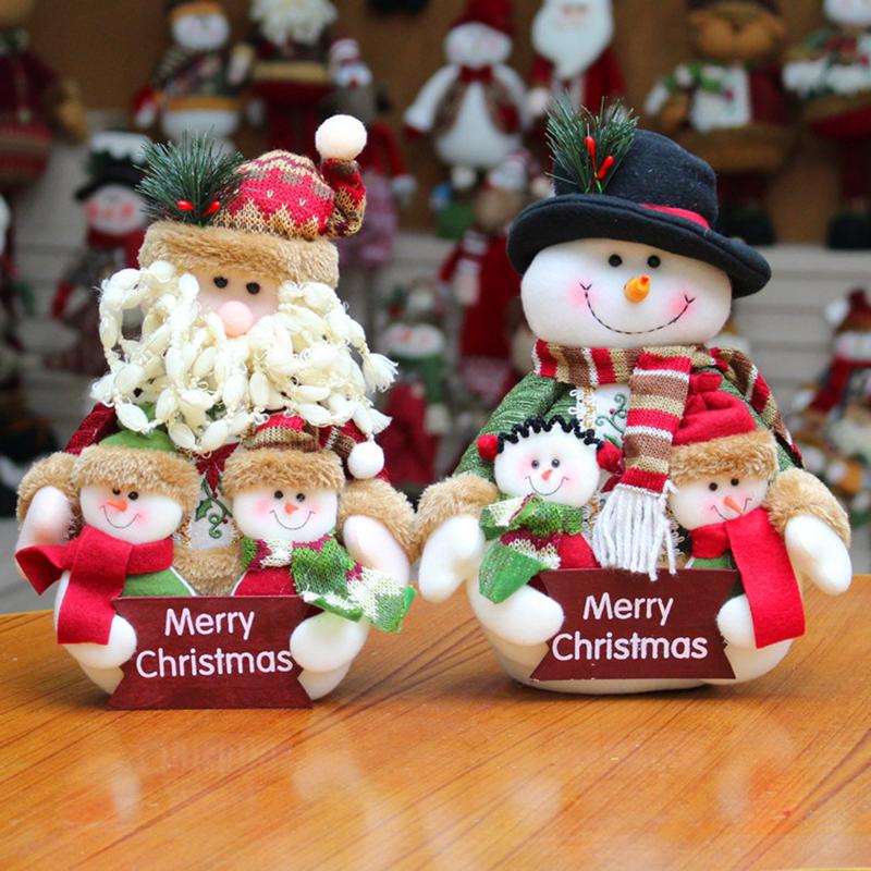 Personnalisé Bonhomme de neige famille enfants plaque de Noël de Noël Décoration Cadeau