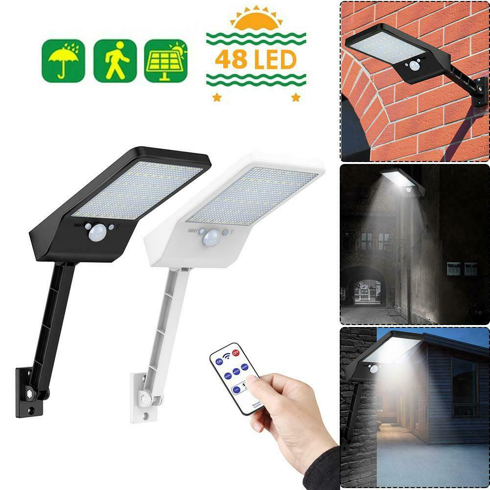 48 LED Solar Power Motion Sensor Lamp Garden Street Waterproof Light w// Remote