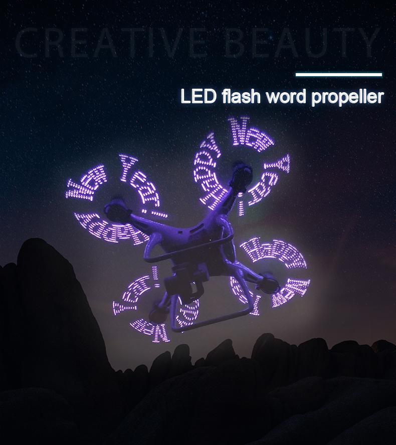 1Pair STARTRC LED Light Flash Word Low-Noise Propeller for DJI Phantom 4 Pro 2.0